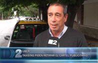 11 01 TAXISTAS PIDEN RETIRAR EL CARTEL PUBLICITARIO DE UBER