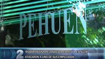 15 -02 -2019 ROBARON UNA RECONOCIDA PARRILLA EN LA ZONA DE ALEM ,UNO DE SUS EMPLEADOS FUE ATACADO.