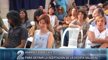 28 -2-2020 ASAMBLEA DE SUTEBA ESTUDIAN LA PROPUESTA DEL AUMENTO SALARIAL.