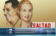 16 -10 -2020 DÍA DE LA LEALTAD PERONISTA ANUNCIAN ACTOS VIRTUALES