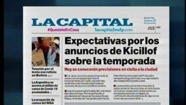 19 -10 -2020 REPORTE CASOS COVID EN LA CIUDAD Y TAPA DIARIO LA CAPITAL DE MAR DEL PLATA