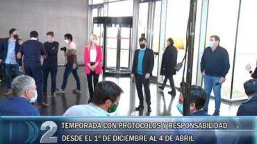 20 -10 -2020  EL GOBERNADOR DE LA PROVINCIA DE BUENOS AIRES AXEL KICILLOF ANUNCIA MEDIDAS PARA LA TEMPORADA Y OBRAS DE DRAGADO PAR EL PUERTO DE LA CIUDAD
